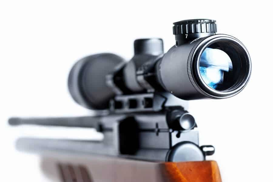 thermal rifle scope on aa rifle
