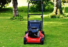 picture of red lawnmower