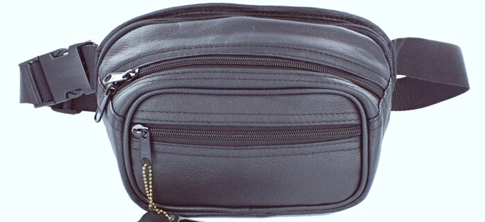 Roma Leather Small Pistol Concealment Fanny Pack