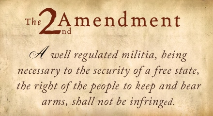 Picture on Parchment of the 2nd Amendment