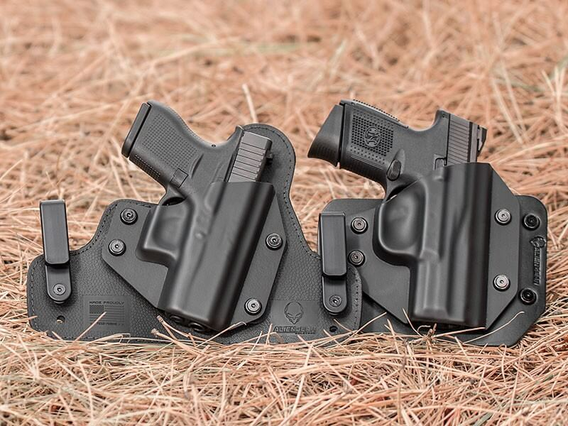 Two Alien Gear Holsters, one of the best holster manufacturers