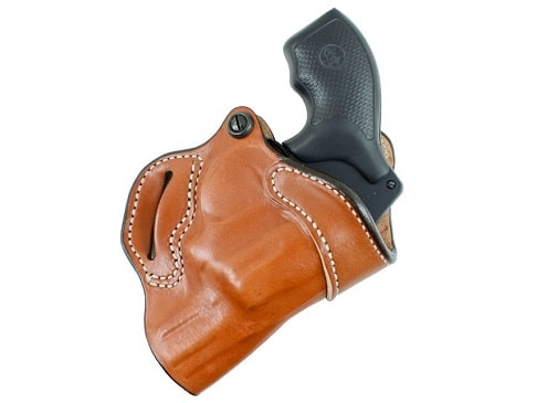 Light brown Desantis Small of Back Holster For Glock Right Hand Tan
