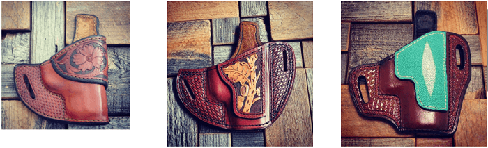 Southern Trapper leather holsters