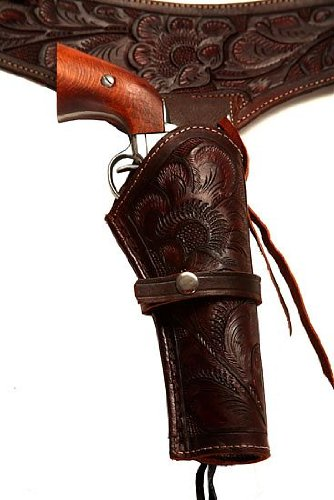 38/357 Caliber Brown Leather Gun Holster