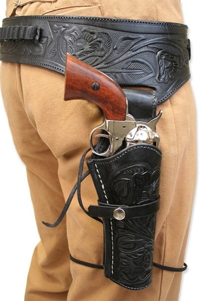 Historical Emporium Men's Right Hand Tooled Holster