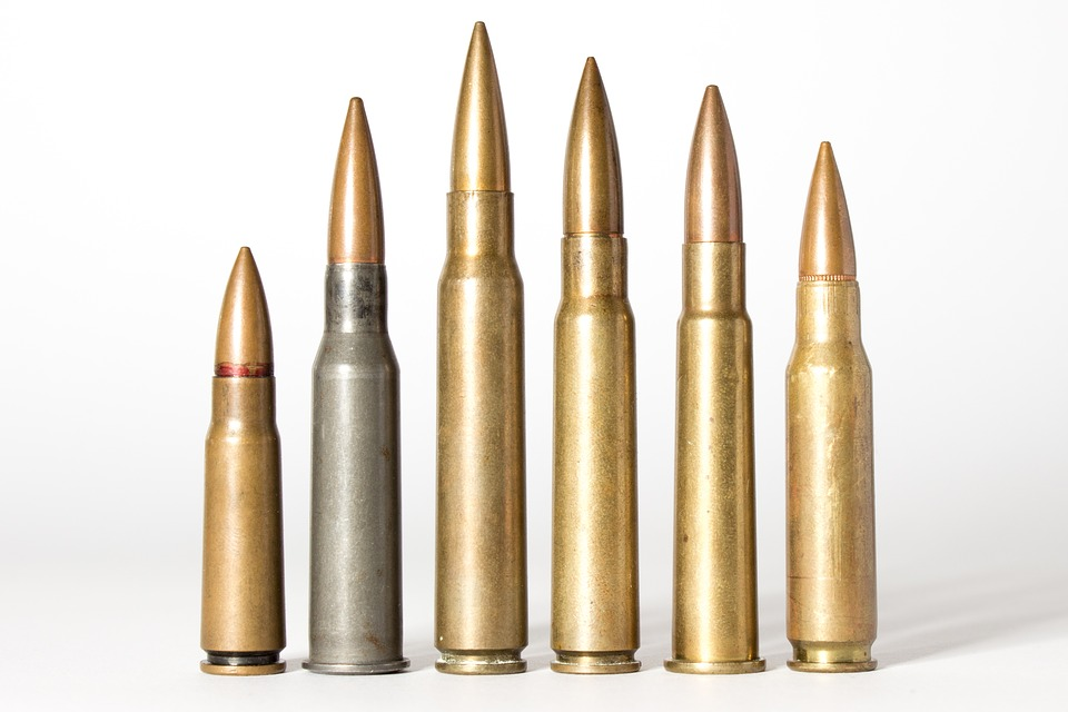 Ammunitions stacked vertically