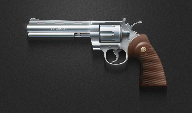 357 Magnum on a black background